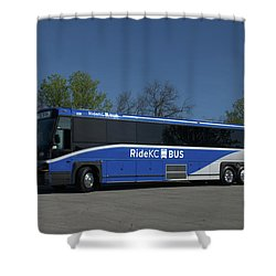 The Jo Bus 406 Mci Shower Curtain by Tim McCullough
