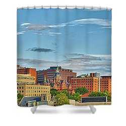 Shower Curtain featuring the photograph The Johns Hopkins Hospital Complex by Mark Dodd