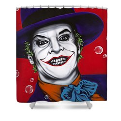 The Joker Shower Curtain by Alicia Hayes