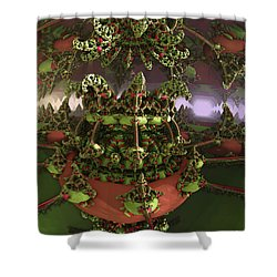 The Jokers Machine Shower Curtain by Melissa Messick