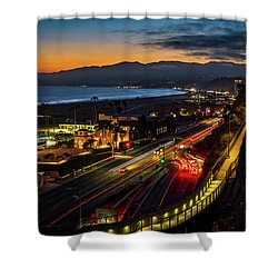 The Jonathan Beach Club - Night  Shower Curtain