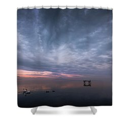 The Journey Of The Swans Shower Curtain