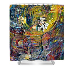 The Journey Shower Curtain by Peggy  Blood