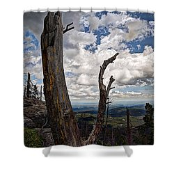 The Journey To Harney Peak Shower Curtain by Deborah Klubertanz