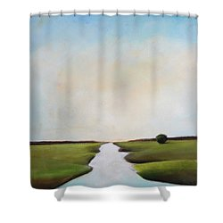The Journey Shower Curtain by Toni Grote