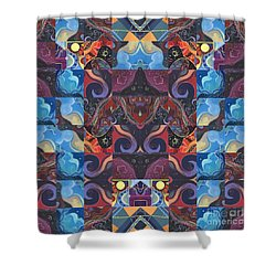 The Joy Of Design Mandala Series Puzzle 6 Arrangement 5 Shower Curtain