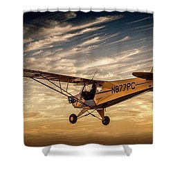 The Joy Of Flight Shower Curtain