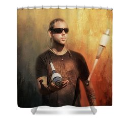 Shower Curtain featuring the photograph The Juggler by Wallaroo Images
