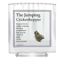 The Jumping Crickenhopper Shower Curtain