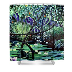 The Jungle Shower Curtain by Geoff Greene