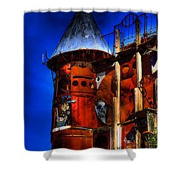 The Junk Castle Shower Curtain by David Patterson