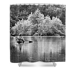 The Kayaker Shower Curtain