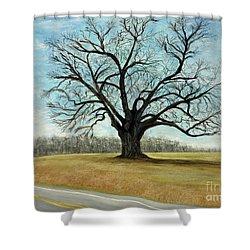 The Keeler Oak Shower Curtain