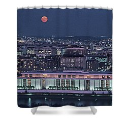 The Kennedy Center Lit Up At Night Shower Curtain by Kenneth Garrett