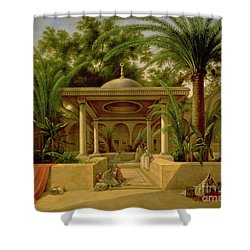 The Khabanija Fountain In Cairo Shower Curtain by Grigory Tchernezov