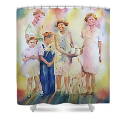 The Kids And The Kid Shower Curtain