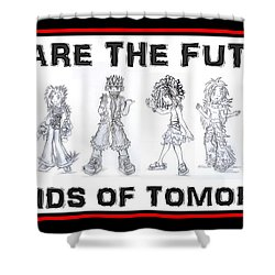 Shower Curtain featuring the drawing The Kids Of Tomorrow 1 by Shawn Dall