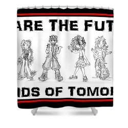 Shower Curtain featuring the drawing The Kids Of Tomorrow 2 by Shawn Dall