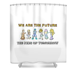 Shower Curtain featuring the digital art The Kids Of Tomorrow by Shawn Dall