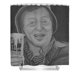The King Shower Curtain by Brian Leverton