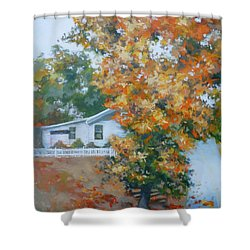 The King Of King Street Shower Curtain by Carol Strickland