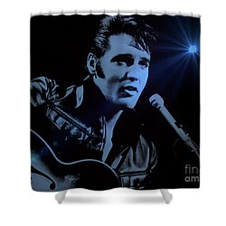 The King Rocks On Shower Curtain