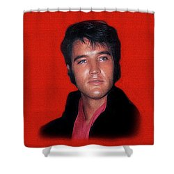The King Rocks On L Shower Curtain