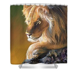 Shower Curtain featuring the painting The King by Sherry Shipley