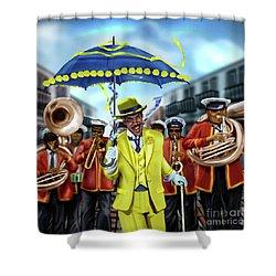 The Kingman  Shower Curtain