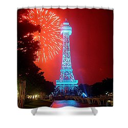 The King's Tower Shower Curtain by Barkley Simpson