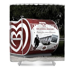 The Kiosk Is Closed Today Shower Curtain by Lorraine Devon Wilke