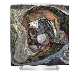 The Kiss  Shower Curtain by Antonio Ortiz