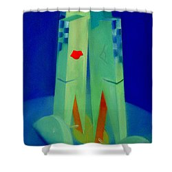 Shower Curtain featuring the painting The Kiss by Charles Stuart
