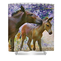 Shower Curtain featuring the painting The Kiss Edition 2 by Judy Kay