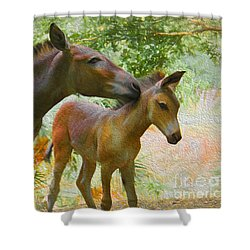 Shower Curtain featuring the painting The Kiss Edition 3 by Judy Kay