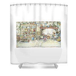 The Kitchen At Crabapple Cottage Shower Curtain