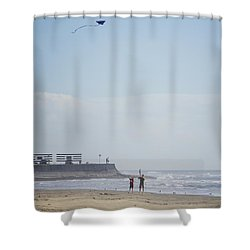 The Kite Fliers Shower Curtain
