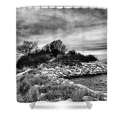 The Knob Bw January 2016 Shower Curtain