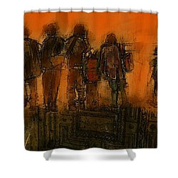 The Knowledge Seekers Shower Curtain by Jim Vance