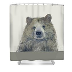 Shower Curtain featuring the painting The Kodiak Bear by Bri B
