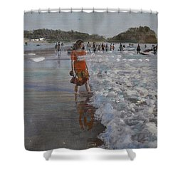 The Konkan Beach Shower Curtain