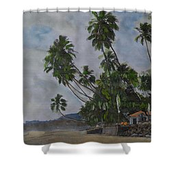 The Konkan Coastline Shower Curtain