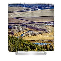 The Kootenai Valley Shower Curtain