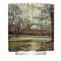 The Kymulga Mill Shower Curtain by Phillip Burrow