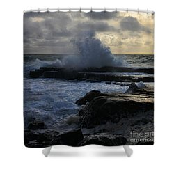 The Labouring Of Waves. 1 Shower Curtain