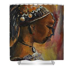 Shower Curtain featuring the painting The Lady by Bernadette Krupa