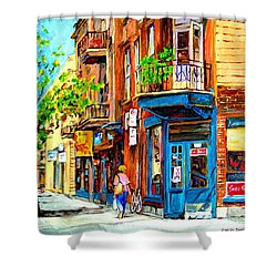 Shower Curtain featuring the painting The Lady In Pink by Carole Spandau