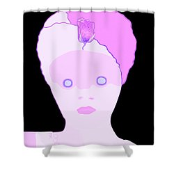 The Lady Of Peacock Hill Shower Curtain