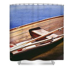 The Lake Boat Shower Curtain