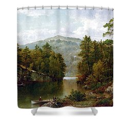 The Lake George Shower Curtain by David Johnson